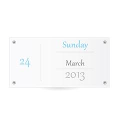 Small Calendar vector image vector image