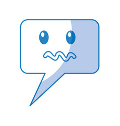 Speech bubble angry comic character vector