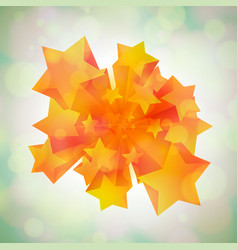 stars coming in 3d vector image