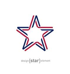 USA star from ribbon vector image