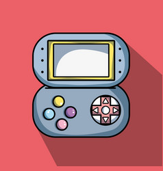 Videogame digital console to simulator technology vector