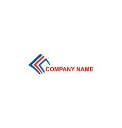 abstract data company logo vector image