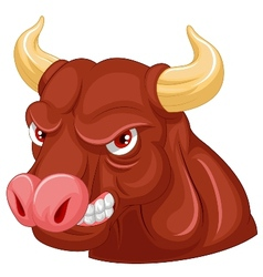 Angry bull mascot cartoon character vector