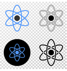 atom eps icon with contour version vector image
