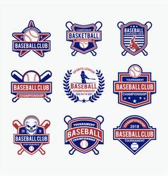 baseball logo 1 vector image