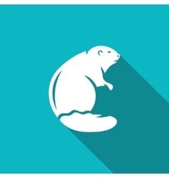 beaver icon vector image