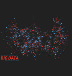 Big data tree visualization vector