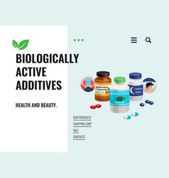 Biologically active additives vector