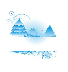 Bluish christmas backround vector