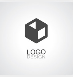 box icon logo vector image