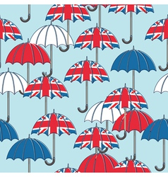 British umbrella pattern vector