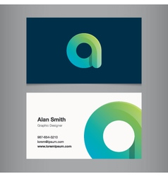 Business card letter a vector