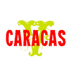 Caracas sticker stamp vector