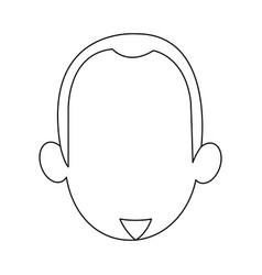 Cartoon face of young man image vector