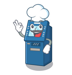 chef atm machine in cartoon shape vector image