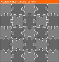 Complete puzzle jigsaw template vector