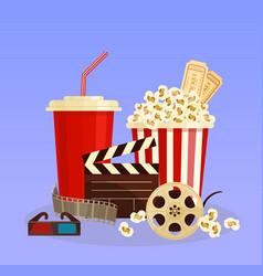 concept cinema popcorn 3d vector image