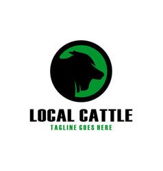 Cow farm modern logo vector