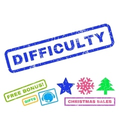 Difficulty Rubber Stamp vector image