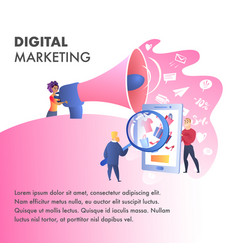 digital marketing website color template vector image