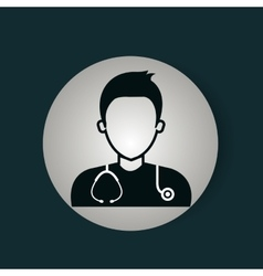 doctor avatar isolated icon vector image