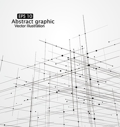 Dot and line composition abstract graphics vector