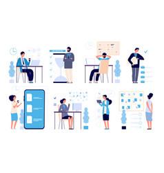 effective time management man managed tasks vector image