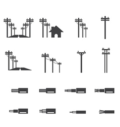 electricity post icon vector image