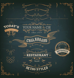 elegant hand drawn golden banners and ribbons vector image