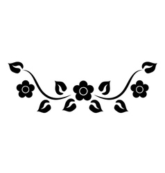 element with flowers vector image