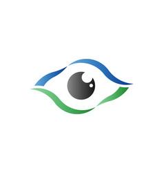 eye care optical retina logo symbol vector image