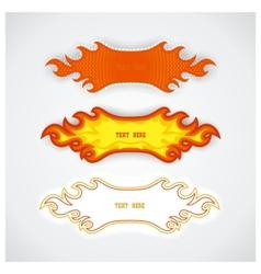 Fiery speech bubbles vector