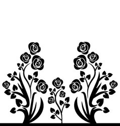 flourishes black and white vector image