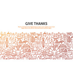 give thanks concept vector image