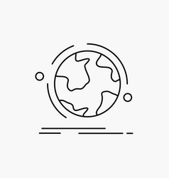 Globe world discover connection network line icon vector