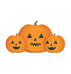 halloween pumpkins icon vector image