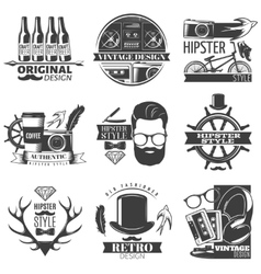 Hipster Emblem Set vector