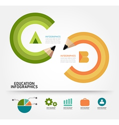 Infographics education pencil concept vector
