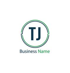 Initial letter tj logo template design vector
