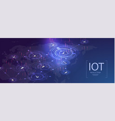Internet things iot devices and concepts vector