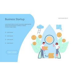 investment start-up web banner design template vector image