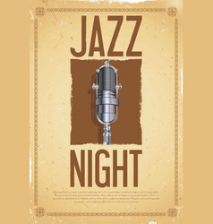 jazz night retro background vector image