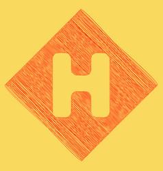 letter h sign design template element red vector image