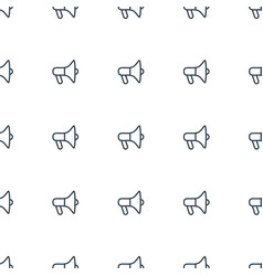 megaphone icon pattern seamless white background vector image