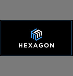 Mm hexagon logo design inspiration vector