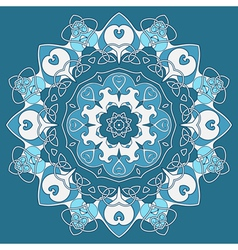 Ornamental round celtic pattern vector