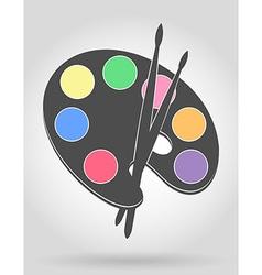 palette for paints 04 vector image vector image