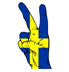 Peace Sign of the Swedish flag vector