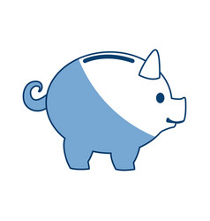 Piggy banking concept safe money icon vector