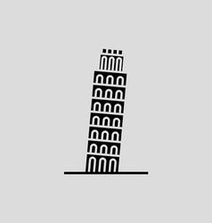 Pisa Tower vector